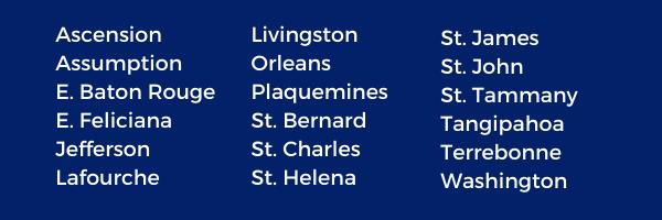 Louisiana parishes Snap recipients