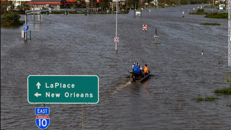 Cnn image of Hurricane Ida in Louisiana